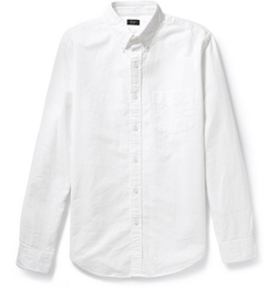 Button-Down Collar Cotton Oxford Shirt by J. Crew in Sicario