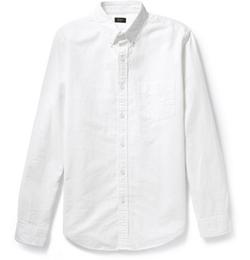 Button-Down Collar Cotton Oxford Shirt by J. Crew in Sicario