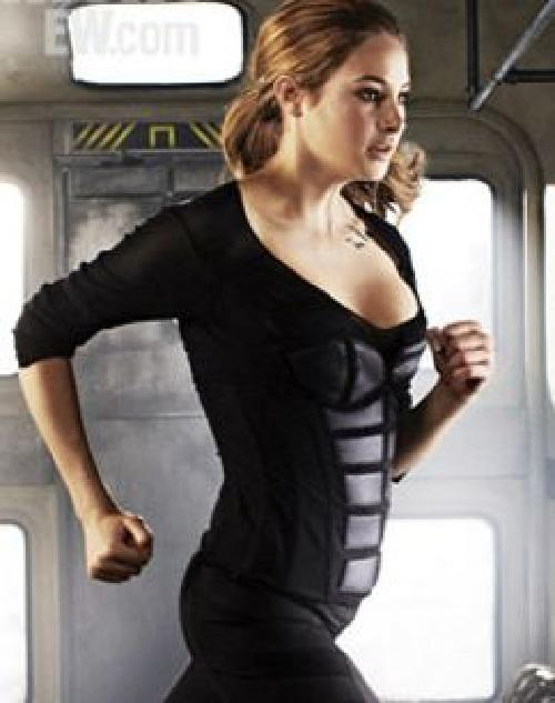 Custom Made Tris Prior 'Dauntless' Paneled Top by Carlo Poggioli (Costume Designer) in Divergent