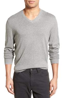 V-Neck Sweater by James Perse in Knight and Day