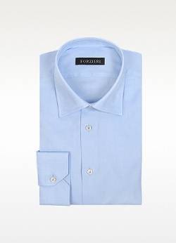 Light Blue Cotton Dress Shirt by Forzieri in The D Train