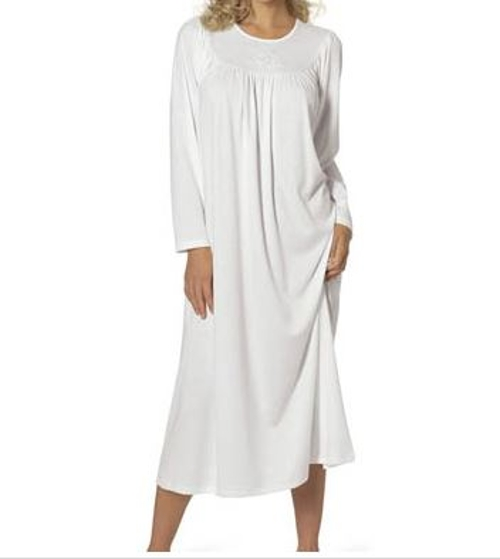 Soft Cotton Long Sleeve Nightgown by Calida in The Visit