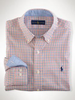 Non-Iron Tattersall Shirt by Ralph Lauren Polo Golf in Mortdecai