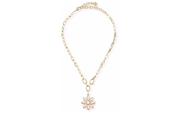 Small Flower Pendant Necklace by RJ Graziano in Scream Queens