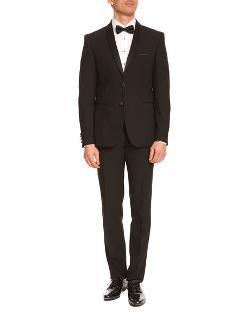 Carpiste Black Tuxedo With Shawl Collar by Izac in Get On Up