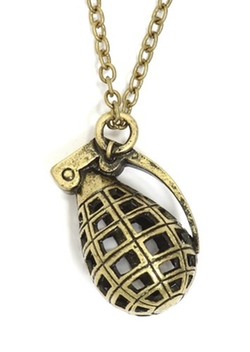 Hand Grenade Cage Necklace by Magic Metal in Chi-Raq