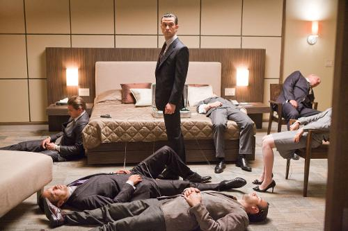 Custom Made Slim-Fit Suit by Jeffrey Kurland (Costume Designer) and Dennis Kim (Tailor) in Inception