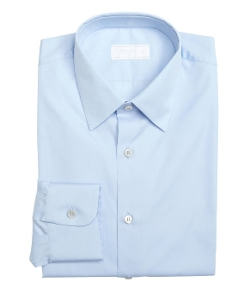Sky Cotton Point Collar Dress Shirt by Prada in Self/Less