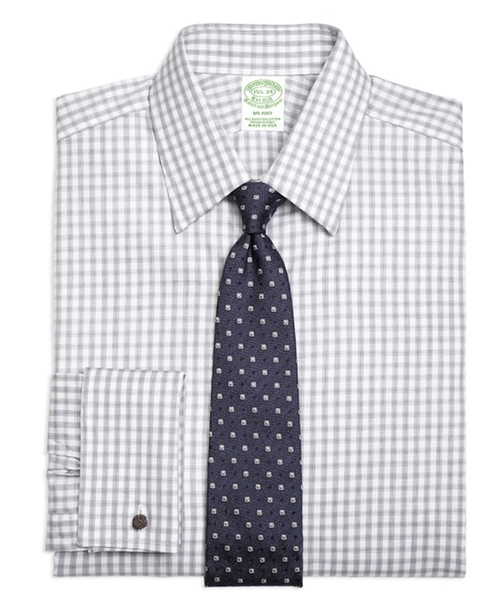Gingham French Cuff Dress Shirt by Brooks Brothers in Ballers - Season 2 Preview