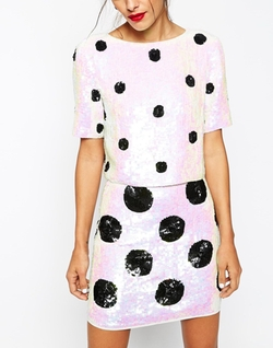 Spot Sequin Tee by Asos in Scream Queens
