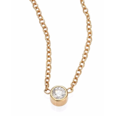 Diamond Gold Pendant Necklace by Zoe Chicco in Sleepless