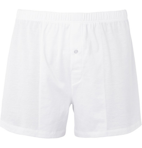 Mercerised Cotton Boxer Shorts by Hanro in By the Sea