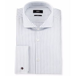 Jaiden Slim-Fit Track-Stripe Dress Shirt by Boss Hugo Boss in Chelsea