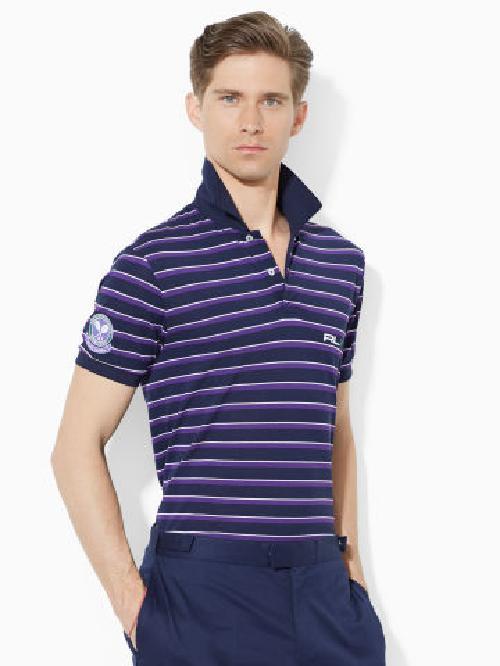 Wimbledon Striped Polo Shirt by RLX Tennis in Million Dollar Arm