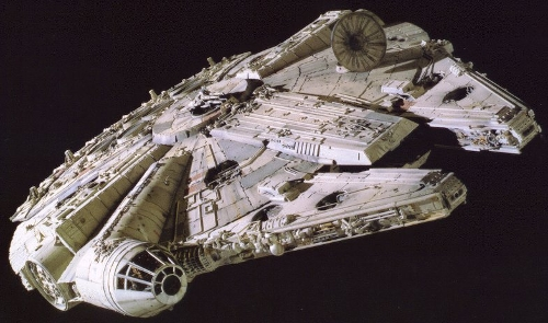 Millennium Falcon Ship by Ralph McQuarrie (Concept Artist) in Star Wars: The Force Awakens