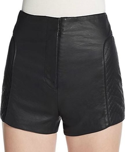Jetson Faux Leather Shorts by French Connection in Scream Queens