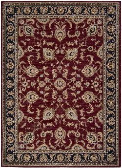 Arabesque Coventry Firebrick Red Rug by Shaw Rugs in The Great Gatsby