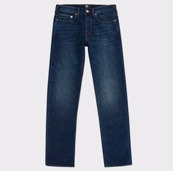 Mid-Wash Crosshatch Denim Jeans by PS by Paul Smith in Power