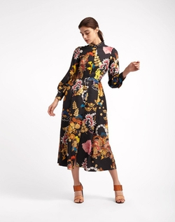 Silk Twill Dress by Cynthia Rowley in Empire