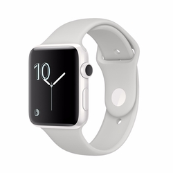 Series 2 Ceramic Case with Cloud Sport Band Watch by Apple in Powerless