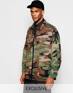 Camo Jacket by Reclaimed Vintage in Triple 9
