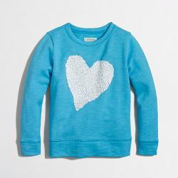Sequin Heart Sweatshirt by J. Crew Factory in Addicted