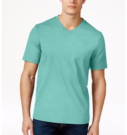 Cotton V-Neck T-Shirt by Club Room in Rosewood