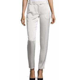 Wallace Satin Slim-Fit Trousers by Elizabeth and James in The Boss