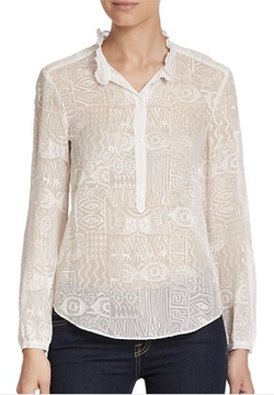 Embroidered Silk Blouse by Rebecca Taylor in Suits