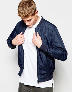Nylon Lightweight Bomber Jacket by Brave Soul in Love