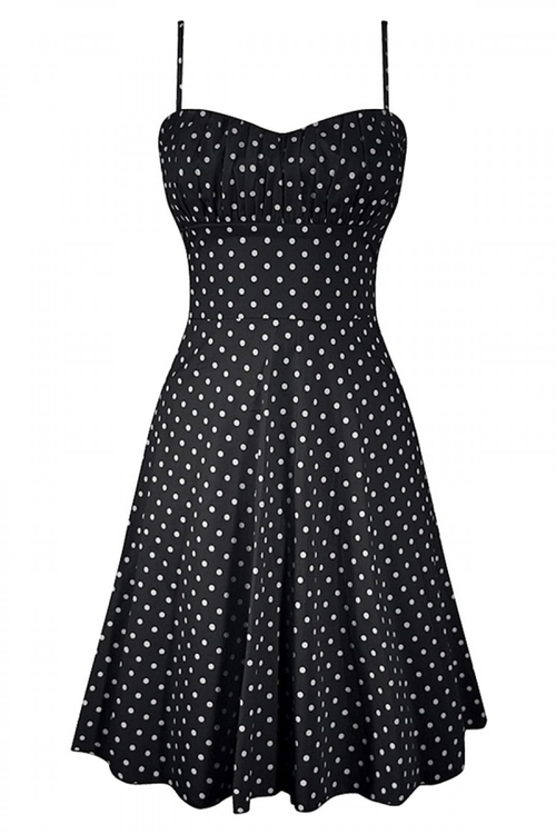 Polka Dot Swing Dress by Double Trouble in Pretty Little Liars - Season 6 Episode 9