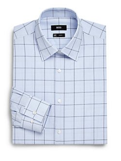Windowpane Check Dress Shirt by Boss Hugo Boss in Need for Speed