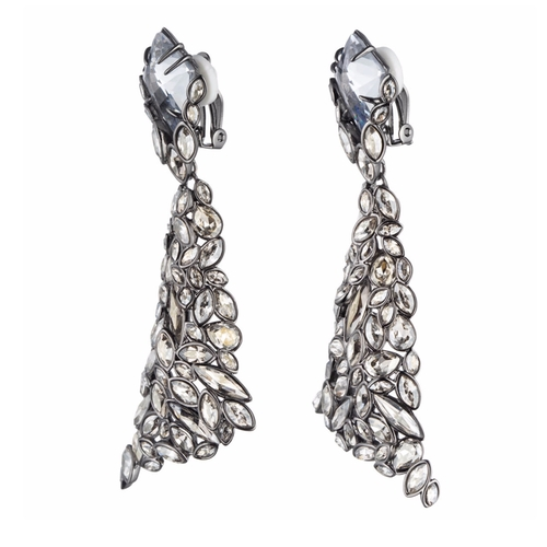 Empire Pavo Crystal Encrusted Clip Earrings by Alexis Bittar in Empire - Season 2 Episode 11