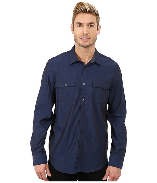 Liquid Cotton Woven Shirt by Calvin Klein in Barbershop: The Next Cut