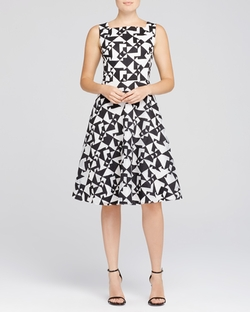 Geometric Fit & Flare Dress by Kay Unger in American Horror Story