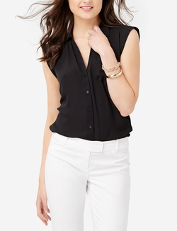 Short Sleeve Ashton Blouse by The Limited in Easy A