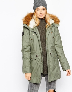 Alpha Industries Fishtail Parka Coat by Asos in Survivor