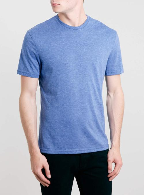 Blue Crew Neck T-shirt by Topman in Hot Tub Time Machine 2