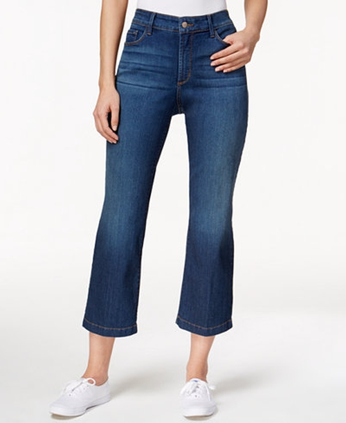Sophia Atlanta Wash Flare-Leg Ankle Jeans by NYDJ in Imaginary Mary
