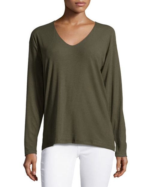 Tiverna Ribbed Long-Sleeve Tee by Theory in The Second Best Exotic Marigold Hotel
