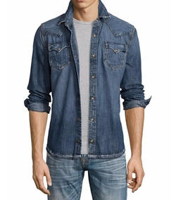 Ryan Western-Style Denim Shirt by True Religion in Lethal Weapon