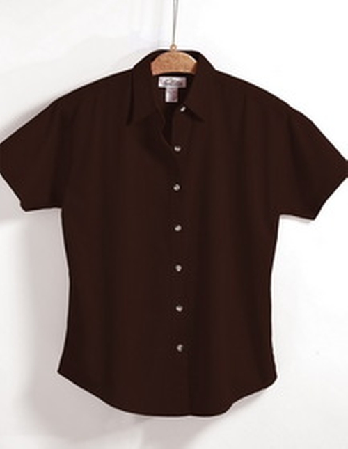 Stain Resistant Short Sleeve Twill Shirt by Tri-Mountain in Crazy, Stupid, Love.