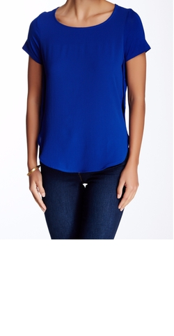 Snap Side Knit Back Blouse by Harlowe & Graham in Fuller House