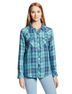 Women's Kendra Plaid Cotton Button Down Shirt by Rails in Dumb and Dumber To