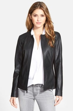 Collarless Leather & Ponte Jacket by T Tahari in Kill Bill: Vol. 2