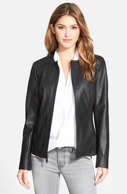 Collarless Leather & Ponte Jacket by T Tahari in Kill Bill: Vol. 2