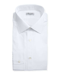 Solid Poplin Dress Shirt by Charvet in Suits