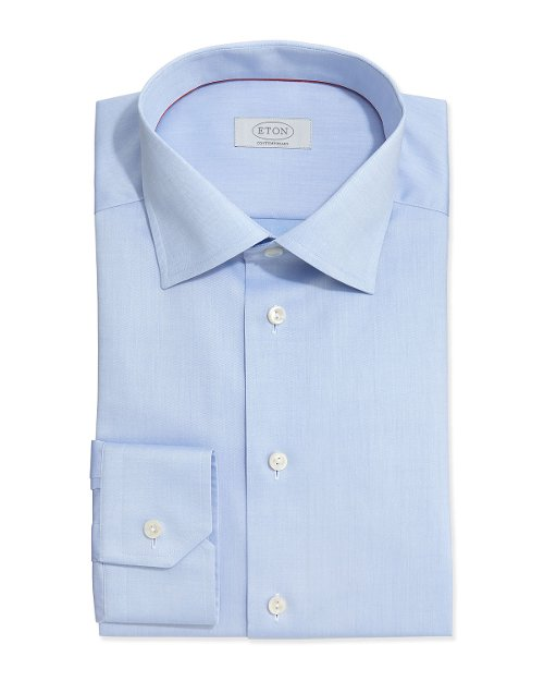 Solid Fine-Twill Dress Shirt by Eton in The Town
