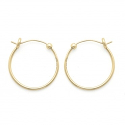 Small Perfect Hoop Earrings by Alex and Ani in Spotlight