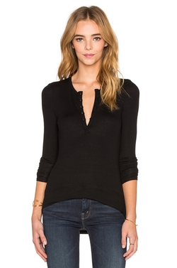 2x1 Rib Henley Shirt by ATM Anthony Thomas Melillo in Keeping Up With The Kardashians